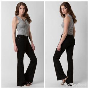 Free People Morrisey Flare Stretch Black Jeans